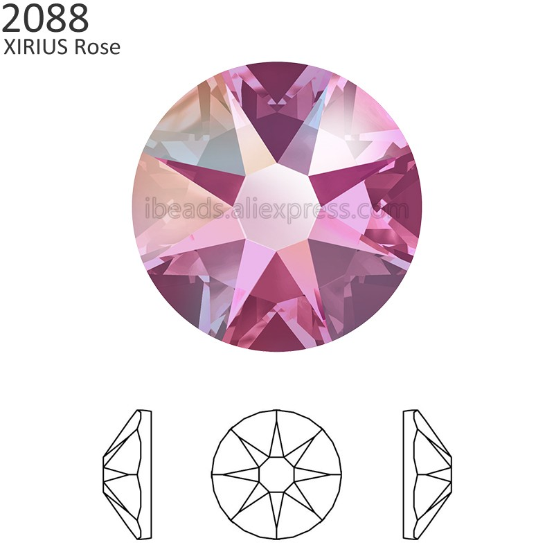 Detail Feedback Questions about (24Pcs) Original Crystals from Swarovski  2058 XILION 2088 XIRIUS Rose no hotfix flat back rhinestone strass for nail  art ... aa210c44bed6