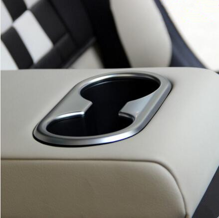 Emaicoca Car styling rear water cup holder decoration sticker ABS Chrome trim For MAZDA  ...
