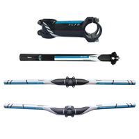 Specials! FCFB FW blue carbon fibre mountain bike carbon handlebar set = Stem seatpost handlebar seat free shipping