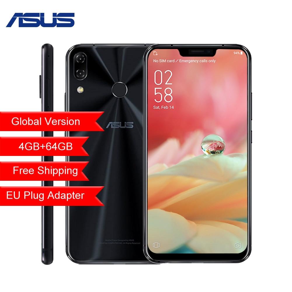 Global versão ASUS Zenfone 5 64 ZE620KL 4g g AI Câmera Do Telefone Móvel 6.2 Android 8.0 Qualcomm Snapdragon 636