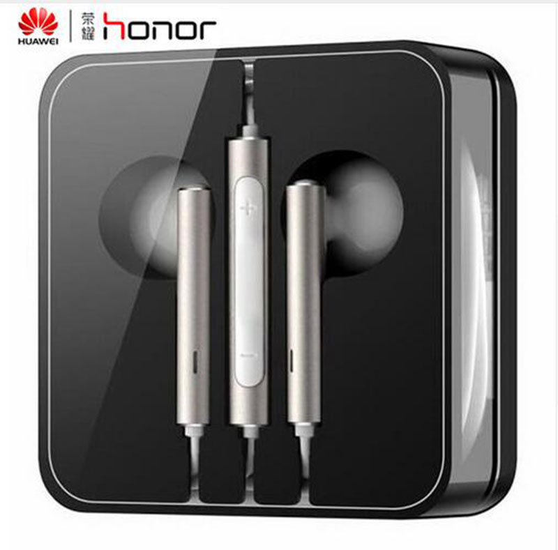 Original Huawei AM116 3.5mm In-ear Earphone Huawei Earbuds with Microphone for PC Huawei P8 Lite P7 Android Phones Xiaomi original senfer dt2 ie800 dynamic with 2ba hybrid drive in ear earphone ceramic hifi earphone earbuds with mmcx interface