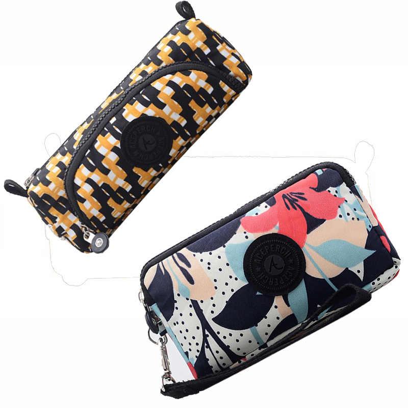 Aceperch menina 2019 original estojo carteira feminina caso billetera mujer bolsa carteira meninas náilon macaco lápis sacos bolsas