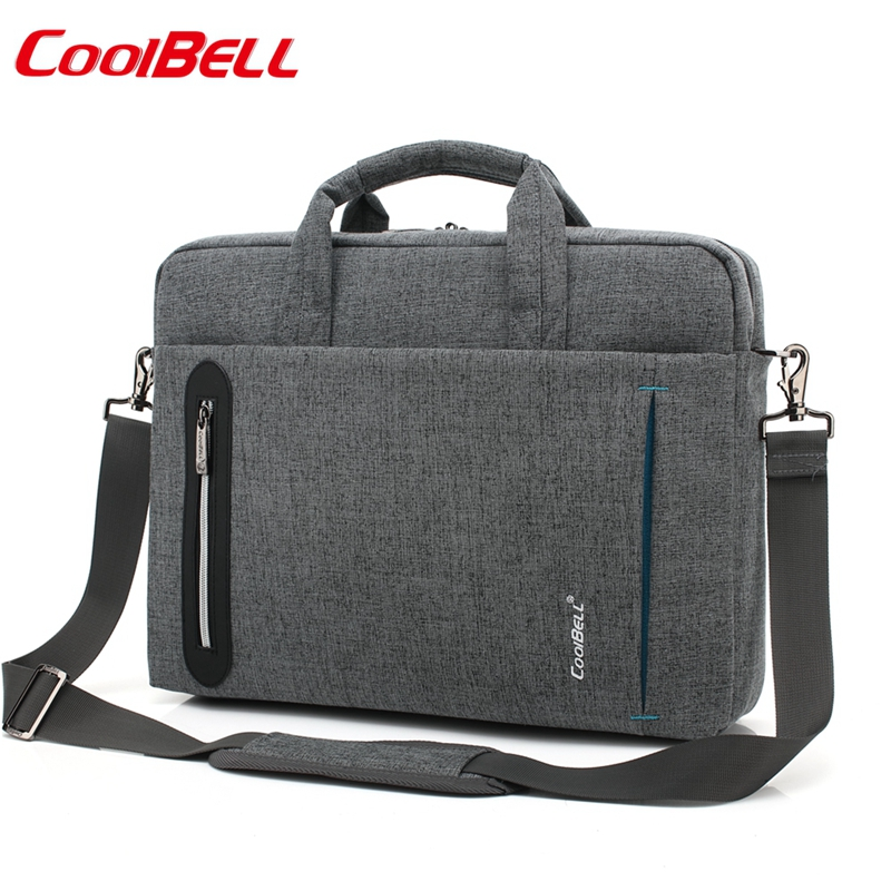 Waterproof Nylon 15.4 15.6 17 17.3 Inch Laptop Shoulder Bag Man Business Bag Messenger Bag For Macbook PRO Bag Black 2619