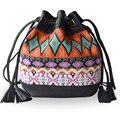 Hot Sale  Bohemian style  women messenger bags flower printing women bag tassle women  cross body shoulder bags