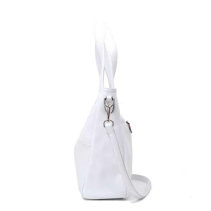 ZENCY 100% натуральная коровья кожа женские сумки на плечо OL сумка женская с верхней ручкой полоса сумка-мессенджер черный белый воловья сумка