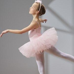 Image 4 - Vestido de Ballet y danza para niñas y niños, tutú de tul de manga corta de alta calidad
