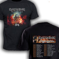 Iron Maiden With Ghost Books Of Soul Tour Dates 2017 T Shirt Men And Women Tee