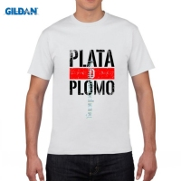 Gildan Fashion Escoba Uomo Serie Tv Plomo O Plata Pablo Escobar T Shirt Men Women Cotton