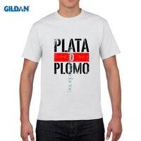 Gildan Fashion Escoba Uomo Serie Tv Plomo O Plata Pablo Escobar T Shirt Men Women Cotton