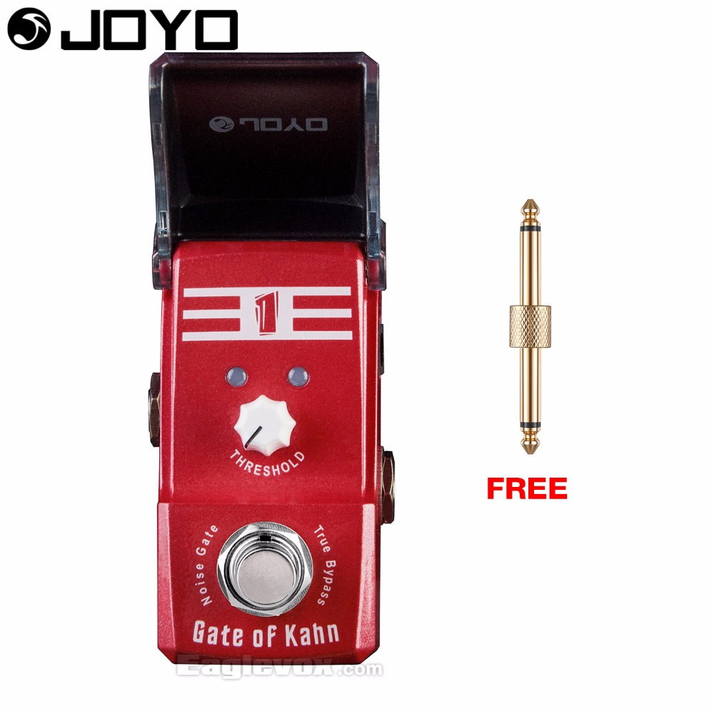 Joyo Ironman JF-324 Gate of Kahn Noise Gate Guitar Effect Pedal True Bypass with Free Connector joyo ironman jf 317 space verb digital reverb guitar effect pedal true bypass