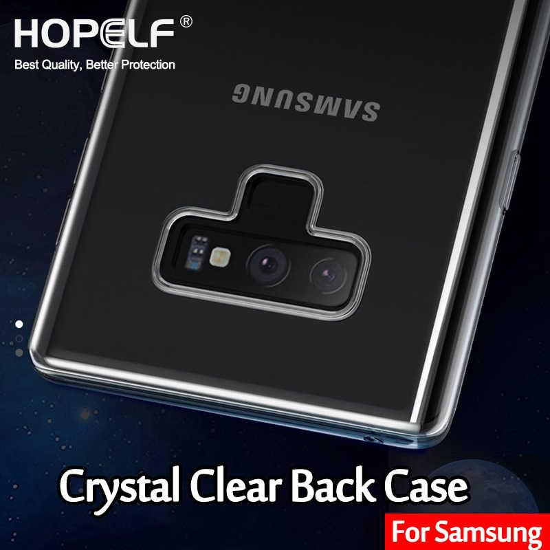 Rõ ràng Trường Hợp Đối Với Samsung Galaxy S8 S9 S10 Cộng Với Lite Điện Thoại Bìa Coque S3 S4 S5 Mini trên Trở Lại Trường Hợp đối với Samsung Lưu Ý 9 8 S6 S7 Cạnh