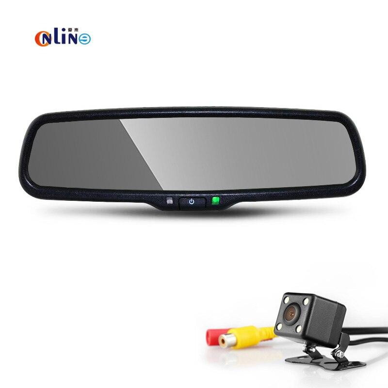 4.3 TFT LCD HD 800*480 Support Spécial De Voiture Parking Vue Arrière avec CCD + LED De Sauvegarde Avec 170 degrés de re par auto nuit vision