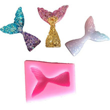 TTLIFE Mermaid Tail Fondant Cake Moulds Silicone Mold Decorating Baking Tools Handmade Soap Fish Fork tail