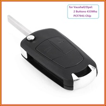 New Remote Key Car Key Fob 2 Buttons 433Mhz PCF7941 for Vauxhall Opel Astra H 2004 2005 2006 2007 2008 2009 Zafira B 2005-2013