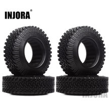 "INJORA 4 stks 98mm 1.9 ""Rubber Wiel Banden voor 1:10 RC Rock Crawler Axiale SCX10 D90 D110 Tamiya CC01 1.9 inch Banden(China)"