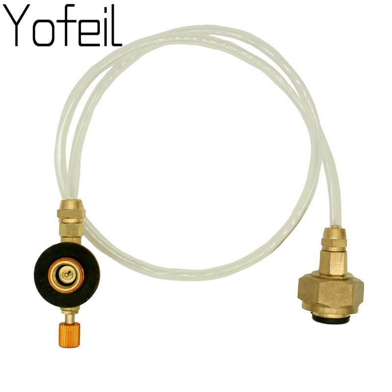Yofeil Outdoor Camping picnic stove head flat gas tank long gas tank converter refill adapter gas stove refill adapter outdoor camping picnic equipment burner lpg flat cylinder tank coupler bottle adapter safe switching