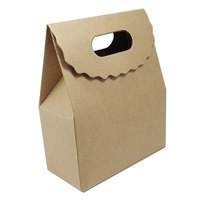 Kraft Paper Gift Box Packaging With Handle Tape Food Candy Chocolate Sweets Crafts Packing Folding Carton