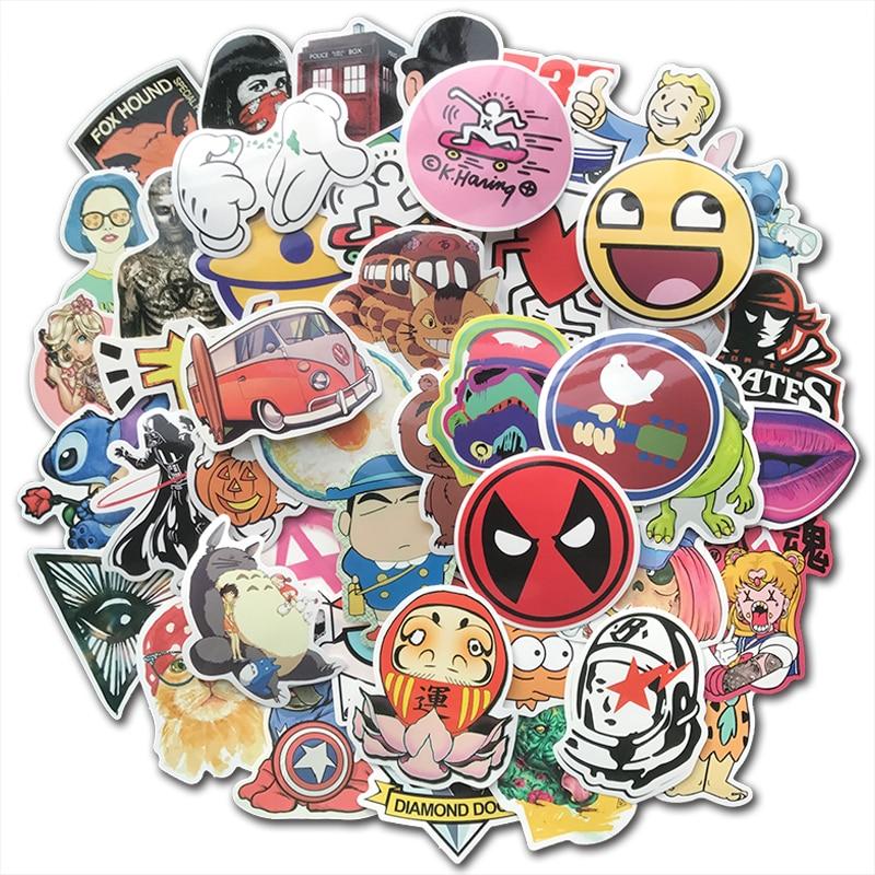 100 Cartoon Princess Girl Stickers for Laptop Luggage Car Skateboard Guitar Bomb
