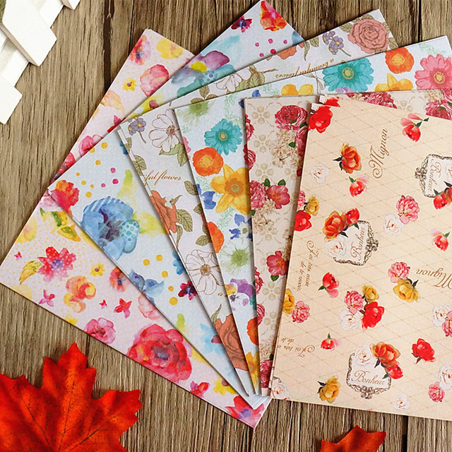60pcs Japanese Elegant Floral Handmade Paper Children Diy Material