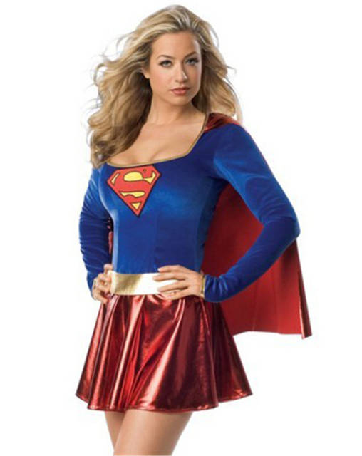 Sexy superheroine costumes