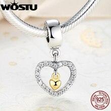 925 siempre en mi corazón charm fit pandora original pulsera de colgantes auténtica joyería de moda de regalo de navidad