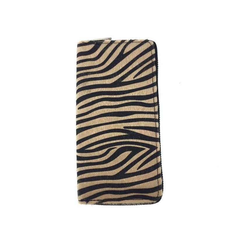 Kandra персонализированный женский кошелек длинный клатч с принтом зебры Мех Кожа пони волосы кошелек красочные в полоску кредитные карты кошелек 2019