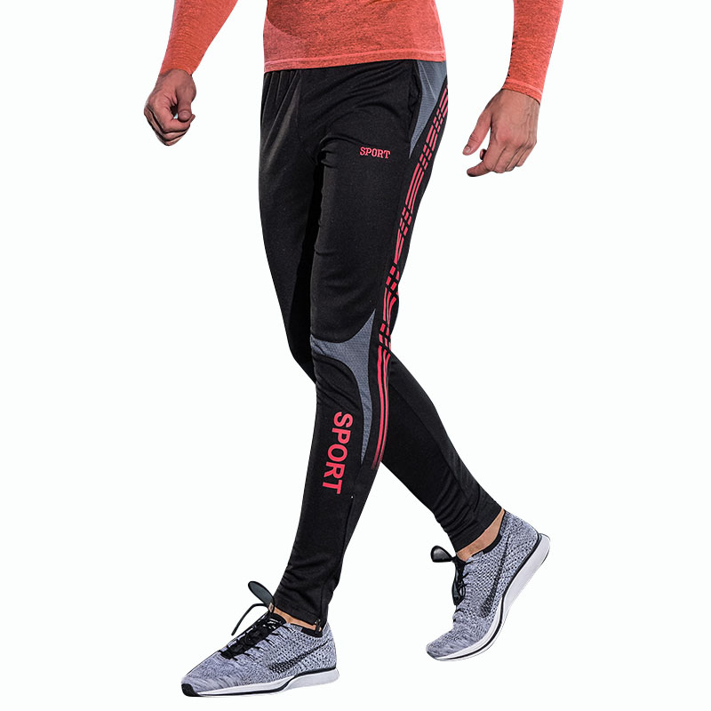 2018 Youth Mens Pants Running Soccer Fitness Athletic Compression Breathable Trousers Gym Long Pants
