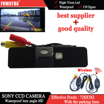 FUWAYDA Wireless For SONY CCD Sensor Special Car RearView Reverse Parking Safety With Guide Line Mirror Image CAMERA for Subaru image