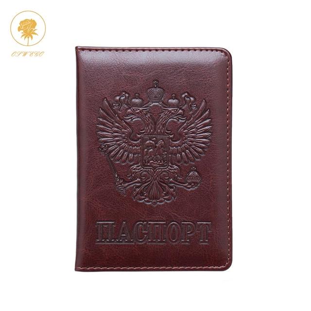 Освего паспорт Чехол Футляр для карт русский билета кредитной держатель для карт кошелек из искусственной кожи Обложка для паспорта Для мужчин Для женщин 2019