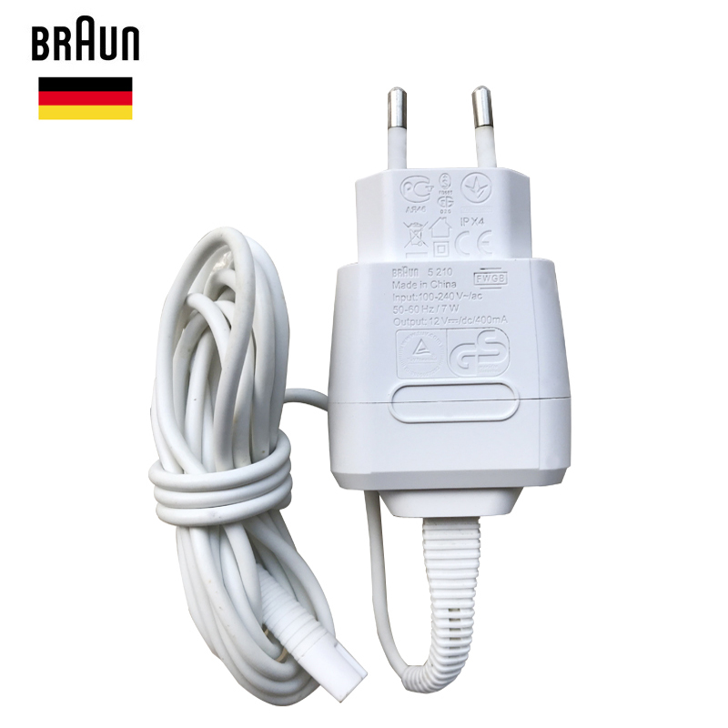 Braun Shavers Charger Cord 5210 EU Wall Plug Razor AC Power Charging Cable 100-240v Output 12v Waterproof Brand New Accessories