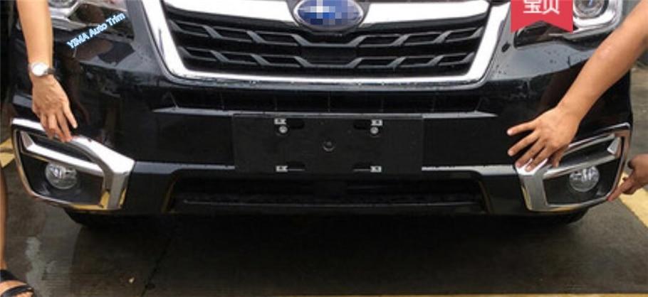 Lapetus Exterior Kit ABS Chrom Frontstoßstange Nebelscheinwerfer Lampen Nebelscheinwerfer Rahmenabdeckung Trim Fit Für Subaru Forester 2016 2017 2018