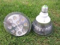 12 Watt Par38 LED E27 Spot Glühbirnen Lampe 110 V 220 V 12*1 Watt High Power Watt Beleuchtung warmweiß kaltweiß CE ROSH 12 teile/los DHL
