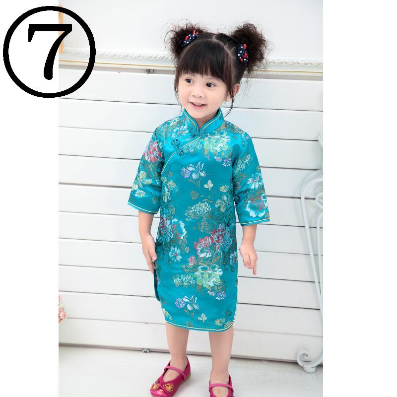 Peony Baby Girls Dress 2018 Chinese Qipao Clothes For Girls Jumpers Party Costumes Floral Children Chipao Cheongsam Jumper 2-16Y 2