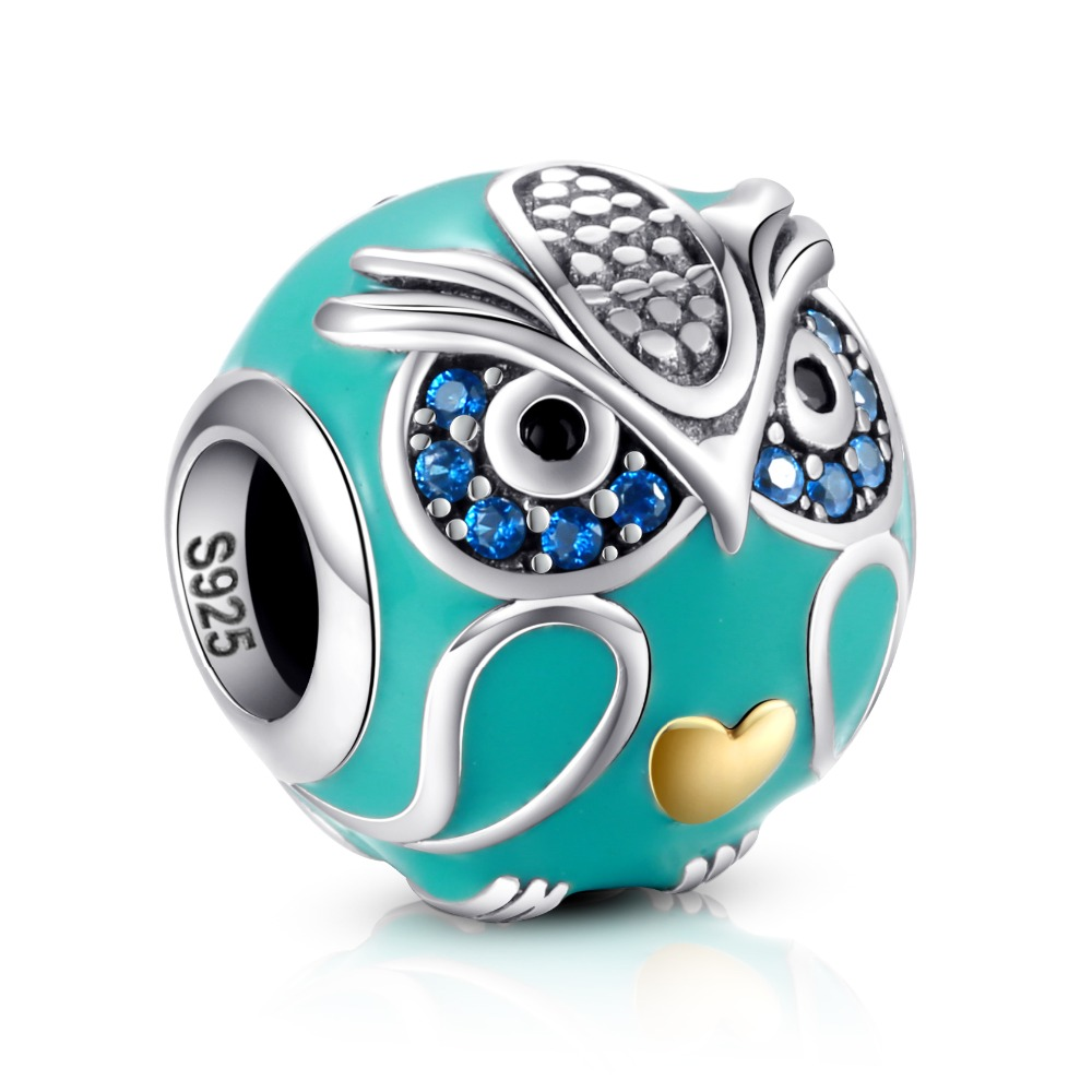 Купить с кэшбэком Owl Chick Cat Mix Charm Beads Fits Authentic Pandora Bracelet Silver 925 Charms Original Sterling Silver Jewelry For Women Gifts