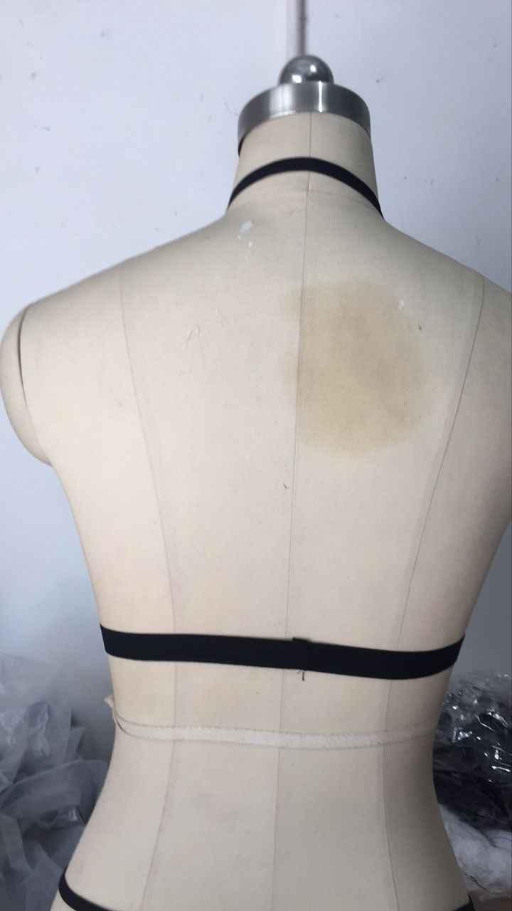 2018 נשים חמות נשים סקסיות מרופד חזיית יבול למעלה שחור לבן שנת אפוד פנאי Bralette מקורבי מרופדת הגופייה Caimsole חולצות