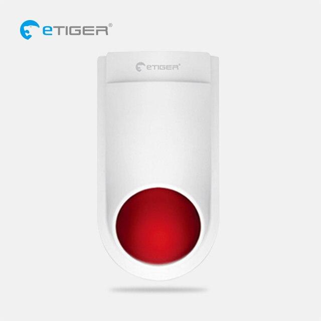 eTIGER Wireless outdoor siren 433 MHz waterproof flash siren suit for eTiger alarm system