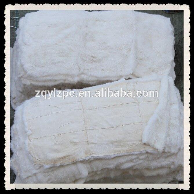 Plaque de fourrure de lapin Rex naturel prix usine chinoise