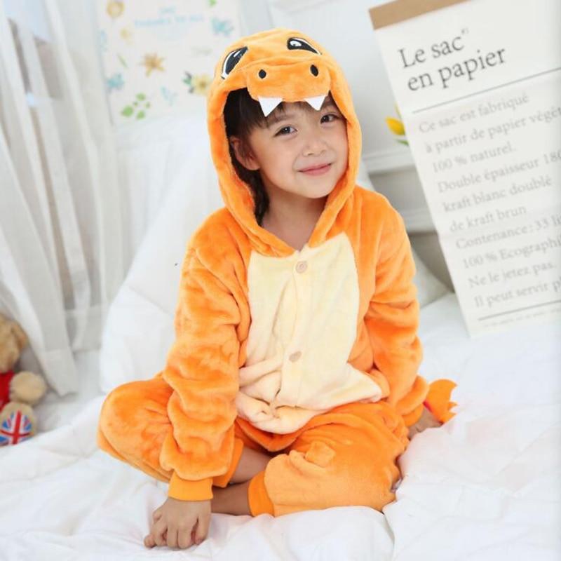 Charmander Kigurumi Onesie chico Cosplay traje para niño chica elegante  carnaval Animal pijamas de los niños 729cac106e79