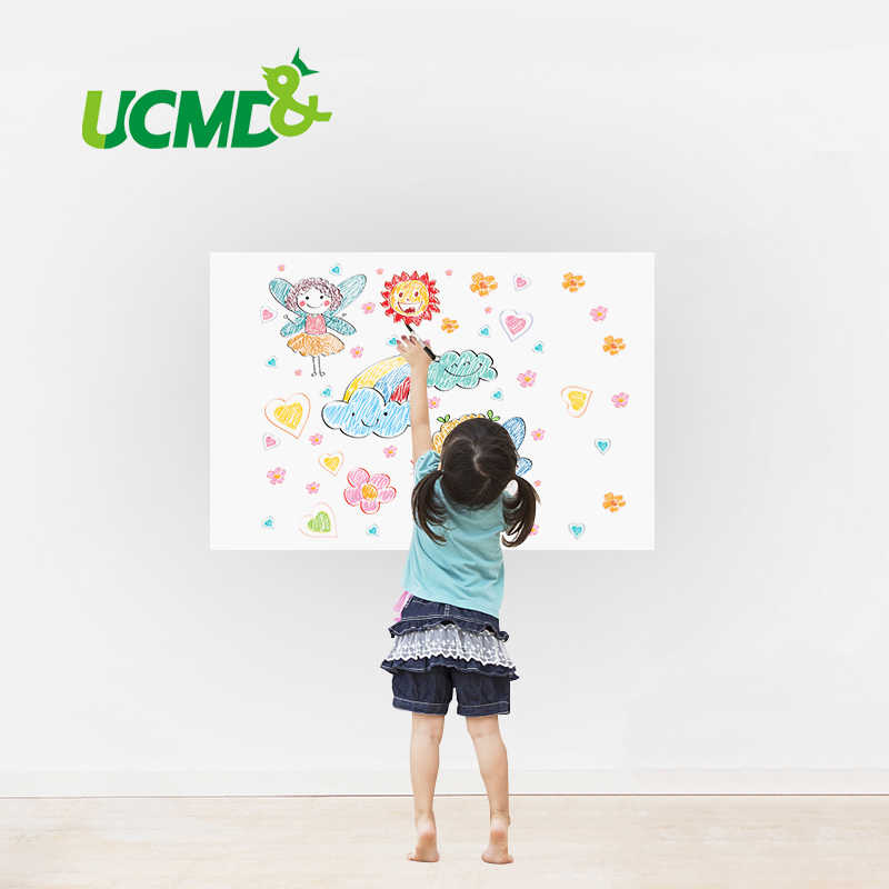 Dry Erase Whiteboard Sticker DIY Self-adhesive White Board Removable Drawing Writing Board for Home School Office 40 X 30 CM