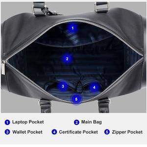 Image 3 - BOPAI עמיד למים אוקספורד נסיעות שקיות עבור גברים עסקי אופנה זכר דובון תיק על לוח טיסה נשים Tote תרמילי שחור יוניסקס