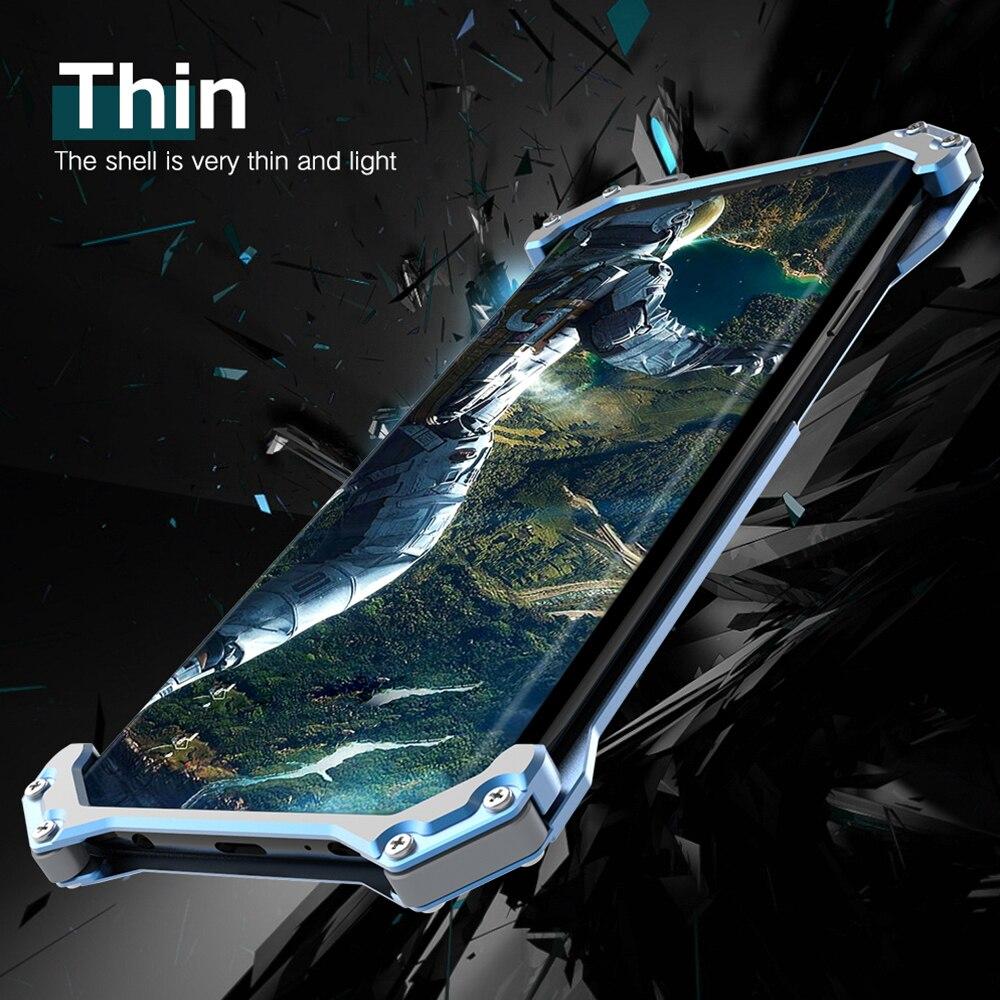 Pare-chocs en métal pour Samsung Galaxy S9 étui pour Samsung S9 Plus couvercle boîtier armure étui en aluminium en métal Capa + métallique
