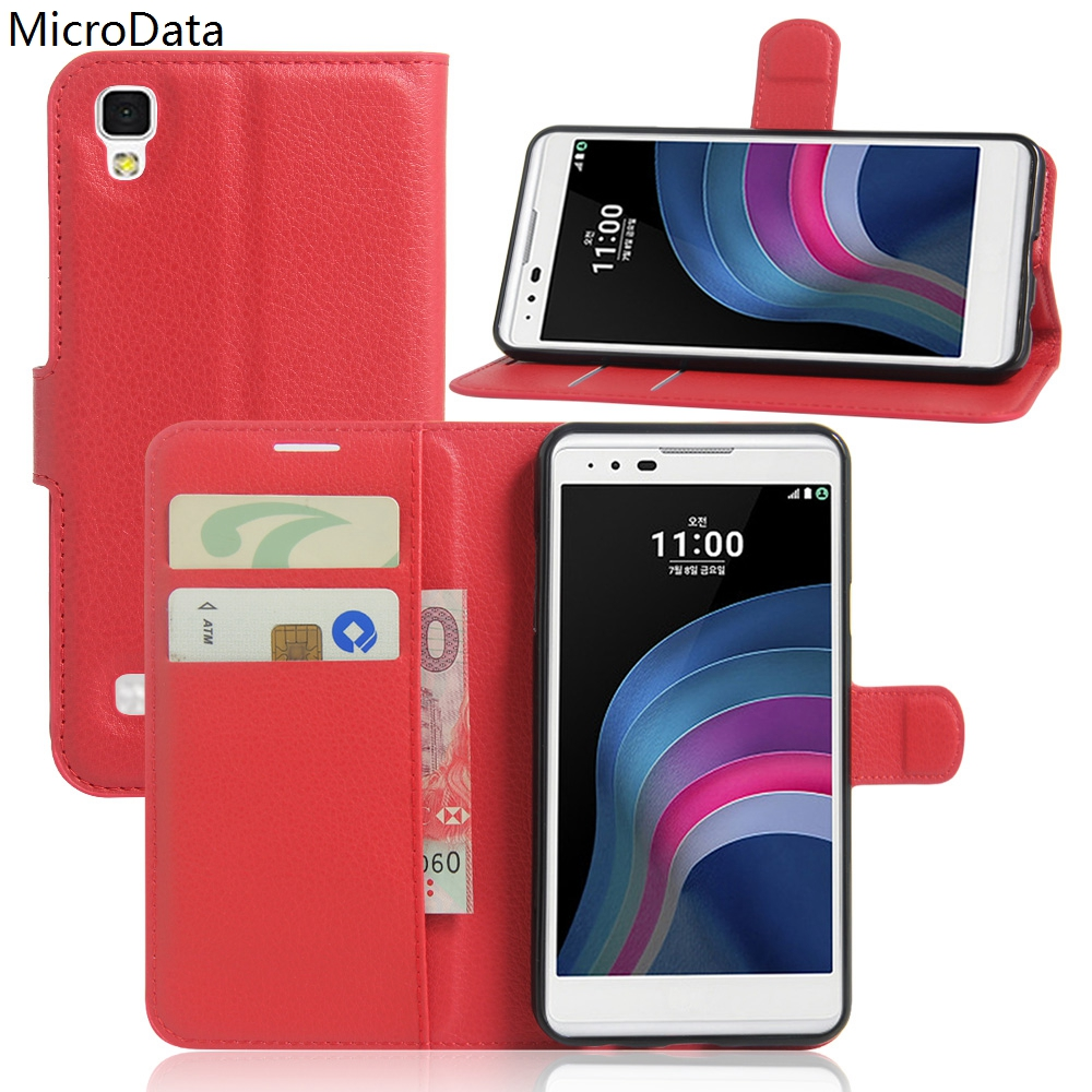 MicroData Luxury PU Leather Flip Case For LG X Style K200DS 5.0 inch Wallet Stand Leather Case Cover On LG X Style 5.0 inch