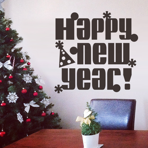 Happy New Year Home decor Vinyl Wall Decal Wall Quotes ...