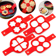 Silicone Mold Pancake Maker Nonstick Cooking Tool Eggs Molds Maker Egg Cooker Pan Kitchen Baking Accessories(China)