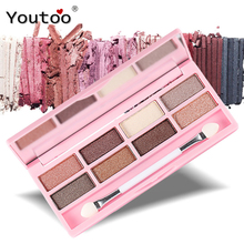 Por Nanda 8 Color Sombra de Ojos Paleta Naked Shimmer Brighten Naturales Juegos de Maquillaje Paleta de Sombras de Ojos Marcas Brillo Sombras de Ojos