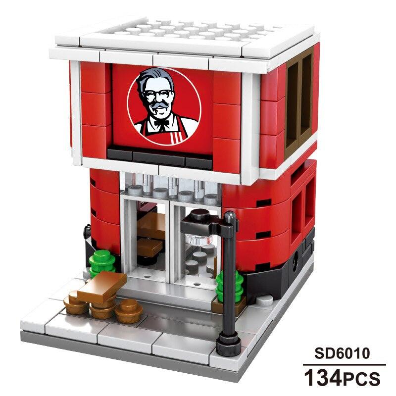 Image 4 - Sembo 601021 Mcdonald Hamburger Fast food restaurant Streetscape Building Blocks Bricks Model toys-in Stacking Blocks from Toys & Hobbies