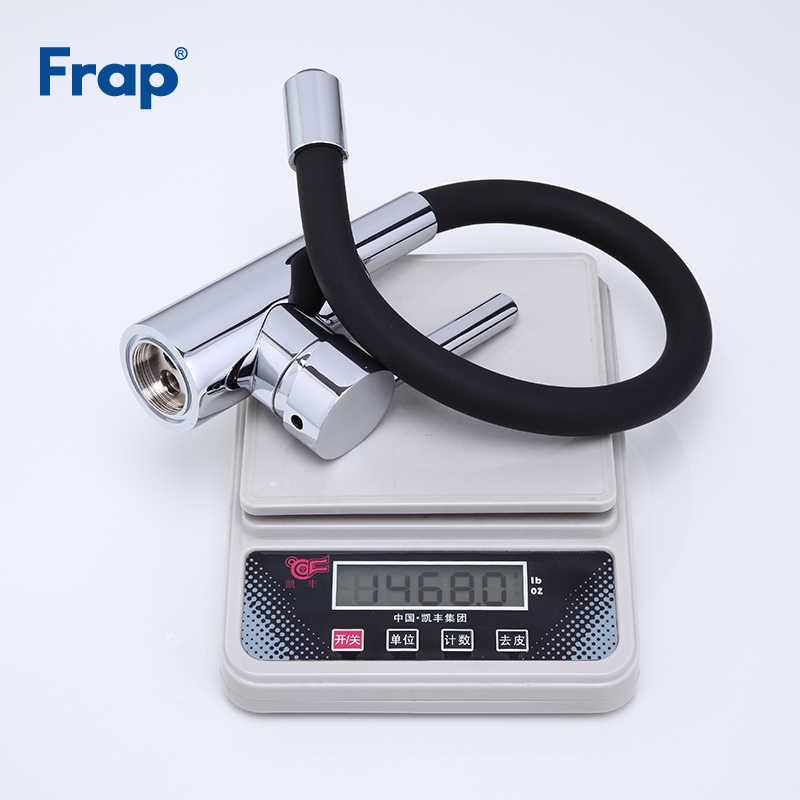 Frap Новое поступление силикагель нос любой направление вращения черный кухонный кран для горячей и холодной воды, смеситель для кухни Torneira Cozinha F4053