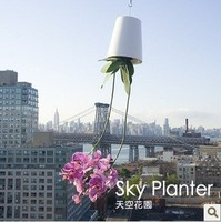 New Sky Planter Pots Upside Down Minimalist Style Mini Air Pots Plastic Pots Sky Garden Ideas