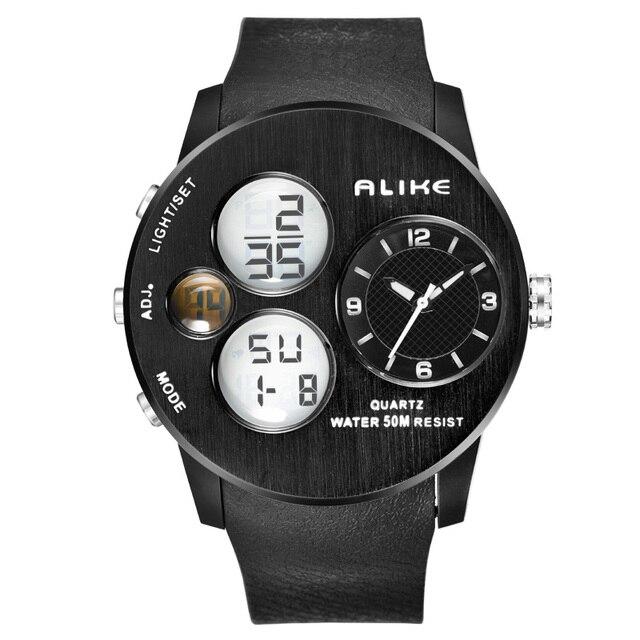 da148c55d Igual deporte de los hombres de doble pantalla mostrar Digital WR50M nadar  impermeable resistente reloj Led