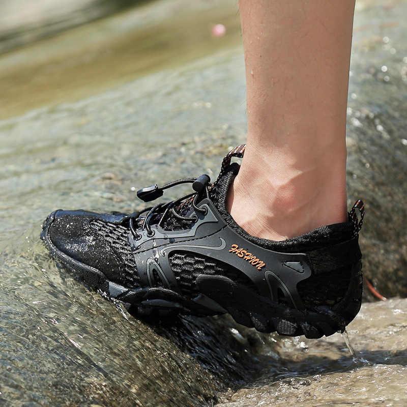 Acqua Aqua Scarpe da Uomo Quick Dry Beach Sandalo Scarpa da Tennis di Sport di Estate Della Maglia di Nuoto Immersioni in Acque da Trekking All'aria Aperta a Piedi Scarpe da Trekking
